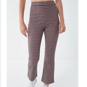 URBAN OUTFITTERS BLACK AND RED FLARE PANTS